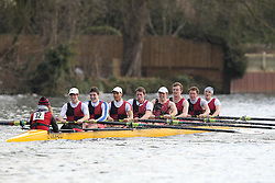 2012.02.25 Reading University Head 2012. The River Thames. Division 1. Bristol University Boat Club IM3 8+