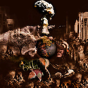 Photoart using a compilation of images - inspired by the song by Tracy Chapman Rape of the World
