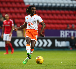 December 23, 2017 - London, United Kingdom - Blackpool's Sessi D'Almeida in action.during Sky Bet  League One match between Charlton Athletic  against Blackpool at The Valley Stadium London on 23 Dec  2017  (Credit Image: © Kieran Galvin/NurPhoto via ZUMA Press)