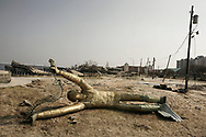 Katrina storm aftermath : Coastal city of Biloxi in Mississippi was heavily damaged by storm surge and high winds. 04 September 2005.