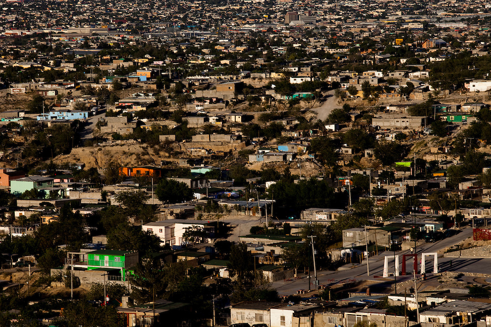 Overview of Ciudad Juarez, Chihuahua on May 22, 2010.