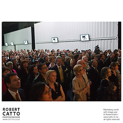Crowds gather to celebrate the launch of the 2008 New Zealand International Arts Festival programme, at Shed 6 on Wellington's Waterfront.  Festival Director Lissa Twomey introduced her first programme as artistic director of the Festival.