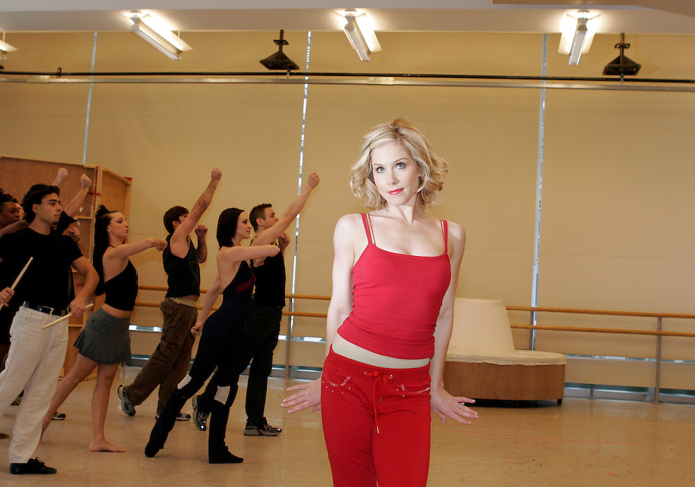 Christina Applegate as.Sweet Charity.Open Press Rehearsal.January 19, 2004.Credit Photo ©Paul Kolnik.NYC 212.362.7778