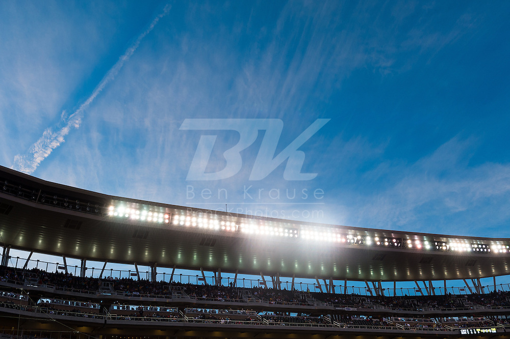 A general view of the canopy of Target Field during a game between the Chicago White Sox and Minnesota Twins on May 13, 2013 at Target Field in Minneapolis, Minnesota.  The Twins defeated the White Sox 10 to 3.  Photo: Ben Krause