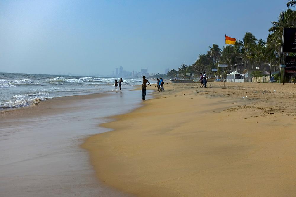 The beach at Lavina, Sri Lanka