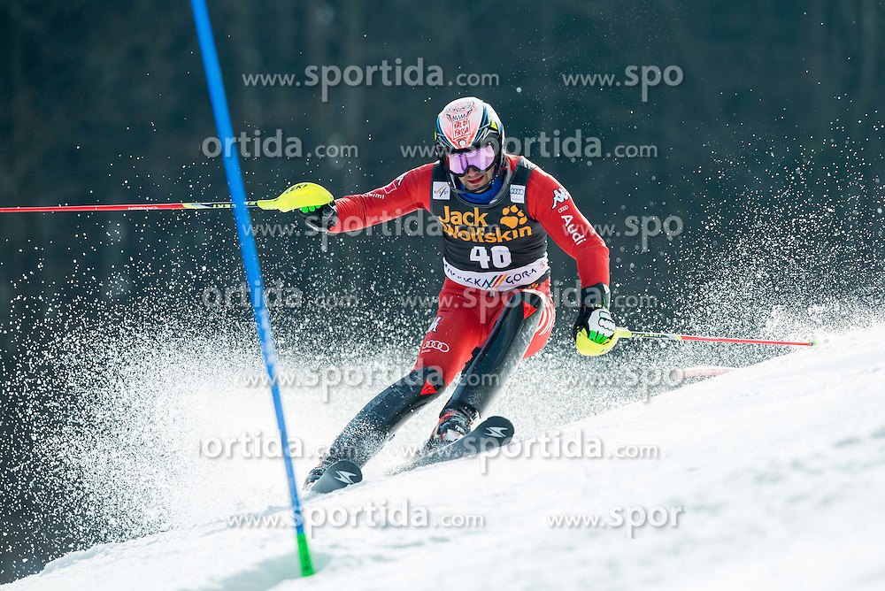 DEVILLE Cristian of Italy competes during 1st Run of Men Slalom race of FIS Alpine Ski World Cup 54th Vitranc Cup 2015, on March 15, 2015 in Kranjska Gora, Slovenia. Photo by Vid Ponikvar / Sportida