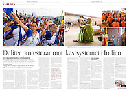Dalits are protesting agains the cast system in India. <br />