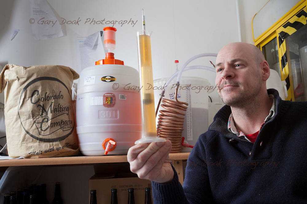 Kieran Middleton, brewer for Bellfield Brewery, the first brewery to produce only gluten-free beers.<br /> <br /> Edinburgh, Feb 2016<br /> Picture by Gary Doak