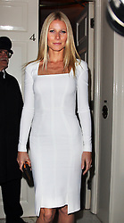 Gwyneth Paltrow arriving for a fundraising dinner for President Obama hosted by Anna Wintour in London, Wednesday, 19th September 2012. Photo by: Stephen Lock / i-Images
