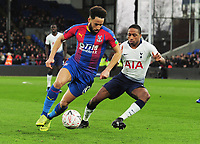 Football - 2018 / 2019 Emirates FA Cup - Fourth Round: Crystal Palace vs. Tottenham Hotspur<br /> <br /> Andros Townsend of Palace and Kyle Walker - Peters of Spurs, at Selhurst Park.<br /> <br /> COLORSPORT/ANDREW COWIE