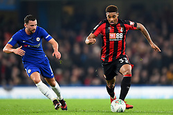 December 20, 2017 - London, Greater London, United Kingdom - Chelsea Midfielder Danny Drinkwater looks on Bournemouth's Jordon Ibe during the Carabao Cup Quarter - Final match between Chelsea and AFC Bournemouth at Stamford Bridge, London, England on 20 Dec 2017. (Credit Image: © Kieran Galvin/NurPhoto via ZUMA Press)