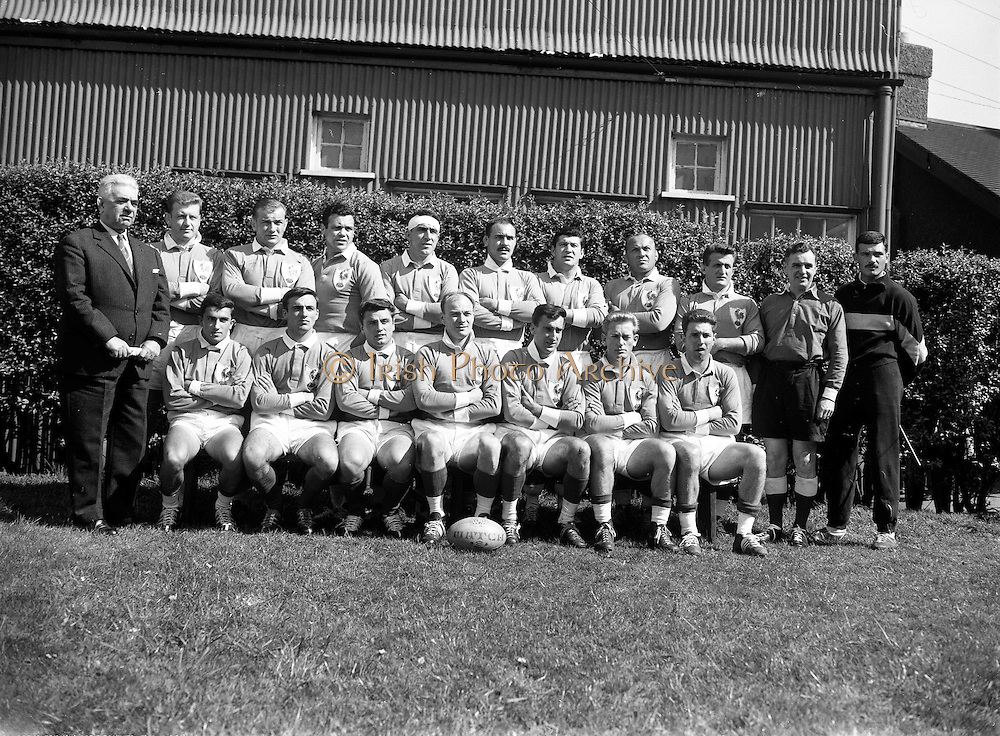 Irish Rugby Football Union, Ireland v France, Five Nations, Landsdowne Road, Dublin, Ireland, Saturday 15th April, 1961,.15.4.1961, 4.15.1961,..Referee- G J Treharne, ..Score- Ireland 3 - 15 France, . .French Team, ..M Vannier, Wearing number 15 French jersey, Full Back, R C Chalon Rugby Football Club, France,..S Mericq, Wearing number 11 French jersey, Left Wing, S.U Agenais Rugby Football Club, France, ..G Boniface, Wearing number 12 French jersey, Left Centre, Stade Montois Rugby Football Club, France,..J Bouquet, Wearing number 13 French jersey, Right Centre, C S Vienne Rugby Football Club, France, ..J Gachassin, Wearing number 14 French jersey, Right Wing, F.C Lourdais Rugby Football Club, France, ..P Albaladejo, Wearing number 10 French jersey, Stand Off, U S Dax Rugby Football Club, France, ..P Lacroix, Wearing number 9 French jersey, Scrum Half, S.U Agenais Rugby Football Club, France, ..A Domenech, Wearing number 1 French jersey, Forward, C A Briviste Rugby Football Club, France,..J De Gregorio, Wearing number 2 French jersey, Forward, F C Grenoble Rugby Football Club, France,..A Roques, Wearing number 3 French jersey, Forward, S Cadurcien Rugby Football Club, France,..G Bouguyon, Wearing number 4 French jersey, Forward, F C Grenoble Rugby Football Club, France,..J P Saux, Wearing number 5 French jersey, Forward, S Paloise Rugby Football Club, France,..F Moncla, Wearing number 6 French jersey, Captain of the French team, Forward, S Paloise Rugby Football Club, France,..M Celaya, Wearing number 8 French jersey, Forward, S B U C Rugby Football Club, France, ..M Crauste, Wearing number 7 French jersey, Forward, F.C Lourdais Rugby Football Club, France, ..