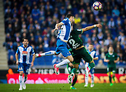 Aaron Martin of RCD Espanyol in duel with Rafa Navarro of Real Betis during the Spanish championship Liga football match between RCD Espanyol and Real Betis Balompie on March 31, 2017 at the RCDE stadium in Barcelona, Spain - Photo Spain ProSportsImages / DPPI / ProSportsImages / DPPI