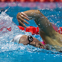 Jimena Perez Blanco of Spain competes in Swimming Women's 800m Freestyle at Nanjing OSC Natatorium during the Nanjing  Youth  Olympic Games 2014 in Nanjing, China, 19 August 2014. The Nanjing Youth Olympic Games 2014 runs from from 16 to 28  August  2014.