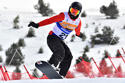 MOEN Kristian, SB-LL1, NOR, Banked Slalom at the WPSB_2019 Para Snowboard World Cup, La Molina, Spain