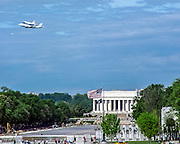 On April 17, 2012, the Space Shuttle Discovery flew over Washington, DC on its way to its new home at the Air & Space Museum in Virginia.