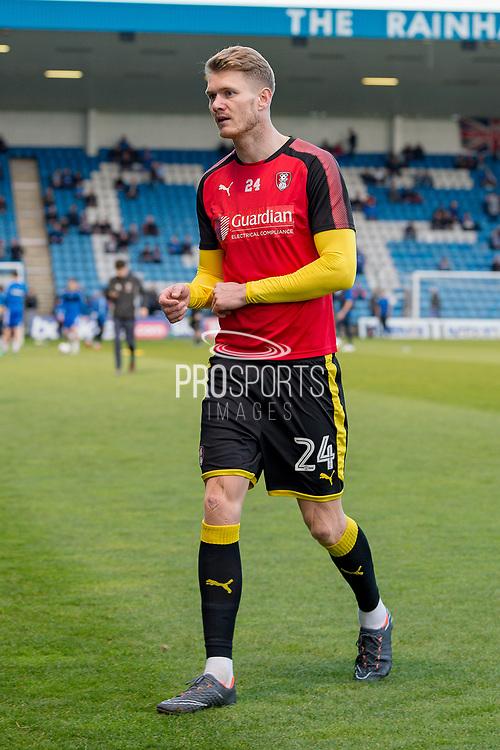 Rotherham United forward Michael Smith (24) after warm up session  before the  EFL Sky Bet League 1 match between Gillingham and Rotherham United at the MEMS Priestfield Stadium, Gillingham, England on 17 April 2018. Picture by Martin Cole.