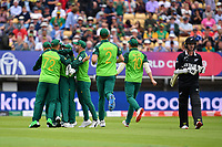 Cricket - 2019 ICC Cricket World Cup - Group Stage: New Zealand vs. South Africa<br /> <br /> South Africa's Kagiso Rabada celebrates taking the wicket of New Zealand's Colin Munro caught and bowled for 9, at Edgbaston, Birmingham.<br /> <br /> COLORSPORT/ASHLEY WESTERN