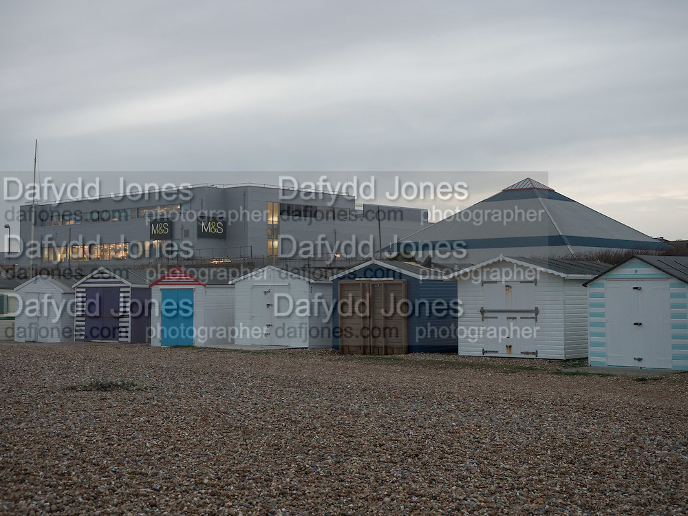 beach huts, Ravensdale beach, Bexhill, East Sussex, 20 November 2016