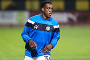 Forest Green Rovers Isaiah Osbourne(34) warming up during the EFL Sky Bet League 2 match between Cambridge United and Forest Green Rovers at the Cambs Glass Stadium, Cambridge, England on 26 September 2017. Photo by Shane Healey.