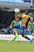 handball Craig Westcarr during the Sky Bet League 2 match between Mansfield Town and AFC Wimbledon at the One Call Stadium, Mansfield, England on 5 September 2015. Photo by Stuart Butcher.