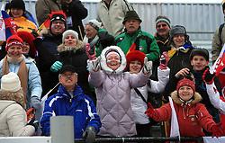 Russian fans at Men 20 km Individual at E.ON Ruhrgas IBU World Cup Biathlon in Hochfilzen (replacement Pokljuka), on December 18, 2008, in Hochfilzen, Austria. (Photo by Vid Ponikvar / Sportida)