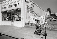 Peoples advice centre in Berkeley during Student protest & riots in Berkeley California 1969