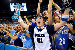 5 APR 2010:  The Bulter student section explodes in cheer during the championship game of the 2010 NCAA Final Four Division I Men's Basketball championships held at Lucas Oil Stadium in Indianapolis, IN. Duke defeated Butler 61-59. Joshua Duplechian/ NCAA Photos