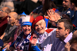 French supporters  during 25th IHF men's world championship 2017 match between France and Slovenia at Accord hotel Arena on january 26 2017 in Paris. France. PHOTO: CHRISTOPHE SAIDI / SIPA / Sportida