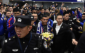 Carlos Tevez Arrives In Shanghai