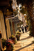 Boutique shops along Broad Street Charleston, SC.