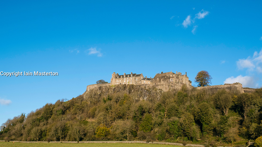 View of Stirling Castle in Stirling, Scotland, United Kingdom.