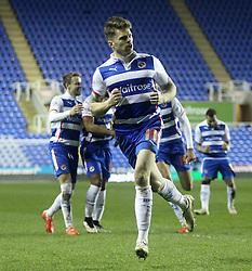 Reading's Jamie Mackie celebrates - Photo mandatory by-line: Robbie Stephenson/JMP - Mobile: 07966 386802 - 10/03/2015 - SPORT - Football - Reading - Madejski Stadium - Reading v Brighton - Sky Bet Championship