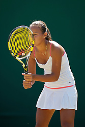 LONDON, ENGLAND - Monday, June 28, 2010: Sabina Sharipova (UZB) during the Girls' Singles 1st Round match on day seven of the Wimbledon Lawn Tennis Championships at the All England Lawn Tennis and Croquet Club. (Pic by David Rawcliffe/Propaganda)