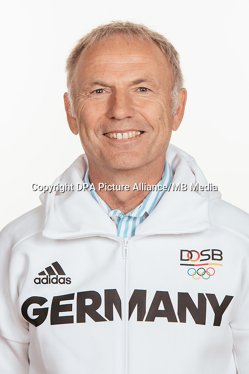 Hans Dieter Lammer poses at a photocall during the preparations for the Olympic Games in Rio at the Emmich Cambrai Barracks in Hanover, Germany, taken on 14/07/16   usage worldwide