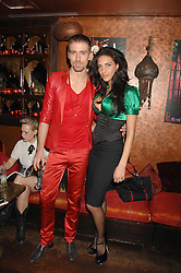 CHRISTIAN HELLAND and KAREN EL KHAZEN at a party in honour of Ivana Trump hosted by Mohieb Dahabieh at Pasha, Gloucester Road, London on 25th January 2008.<br />