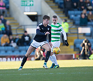 26th December 2017, Dens Park, Dundee, Scotland; Scottish Premier League football, Dundee versus Celtic; Dundee's Jack Hendry and Celtic's Leigh Griffiths