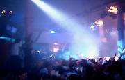 The main dancefloor of the Hacienda goes wild, Manchester, UK.