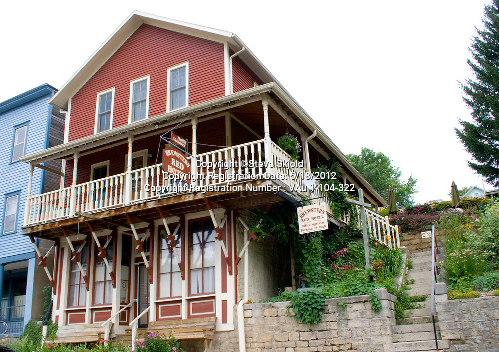 Rustic Brewsters Red Hotel. Lanesboro Minnesota MN USA