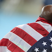 Athletics - Olympics: Day 9  Lashawn Merritt of the United States after winning the bronze medal in the Men's 400m Final at the Olympic Stadium on August 14, 2016 in Rio de Janeiro, Brazil. (Photo by Tim Clayton/Corbis via Getty Images)