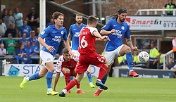 George Boyd of Peterborough United in action with Jordan Rossiter of Fleetwood Town - Mandatory by-line: Joe Dent/JMP - 03/08/2019 - FOOTBALL - Weston Homes Stadium - Peterborough, England - Peterborough United v Fleetwood Town - Sky Bet League One