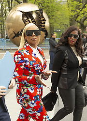 April 30, 2019 - New York, New York, United States - Ashanti tours UN before attending press briefing on upcoming Play it Out Concert to beat plastic pollution at UN Headquarters (Credit Image: © Lev Radin/Pacific Press via ZUMA Wire)