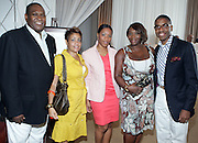 l to r: Javier Evans, Dolly Turner, Donna Duggins Bevy Smith and Reggie Canal at The ABFF Luncheon Hosted by HSBC and Rush Philanthropic Arts held at The Delano in Miami Beach on June 27, 2009..The American Black Film Festival is an industry retreat and competitve marketplace for films and by and about people of color.
