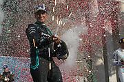 # 20, Mitch EVANS, NZL, Panasonic Jaguar Racing , Jaguar, I-Type III, race winner , PODIUM - <br /> ROME, ITALY, 13. April 2019, Formula E, ROME, ROMA, ROM, Formula Electric, the Formula Electric Race in the streets of Rome -  fee liable image - Photo Credit: &copy; ATP / Arthur THILL
