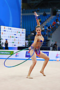 Natália Gaudio was born 18 December 1992  is a Brazilian individual rhythmic gymnast. She is the 2014 South American Games All-around silver medalist. Natália also competed at the 2016 Rio Olympics Games.
