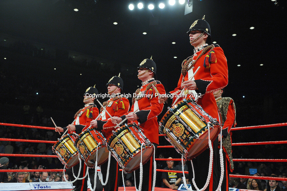 Military Band before the fight where David Price defeats Audley Harrison to the British & CommonwealthTitle at the Echo Arena, Liverpool on 13th October 2012. Frank Maloney Promotions © Leigh Dawney Photography 2012.