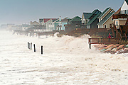 Storm surf looking South from Kitty Hawk Fishing Pier.