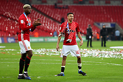 Paul Pogba of Manchester United celebrates with Jesse Lingard - Mandatory by-line: Matt McNulty/JMP - 26/02/2017 - FOOTBALL - Wembley Stadium - London, England - Manchester United v Southampton - EFL Cup Final