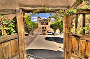 The welcoming entrance of the El Santuario de Chimayo in New Mexico.