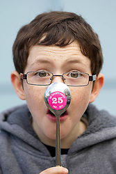 Repro Free: 10/11/2012.Silver Spooned!.Padraig McLoughlin (8) from Sandymount checking out if he was the lucky winner of the Butler's Pantry's Silvery Spoon competition that ran in-store this weekend to celebrate their 25th Birthday..100% Irish owned and run, award winning purveyors of hand-made food, the Butler's Pantry celebrated their 25th Birthday this weekend...For further information please contact : Ann-Marie Sheehan, Aspire PR, Telephone 087 298 5569 or email annmarie@aspire-pr.com